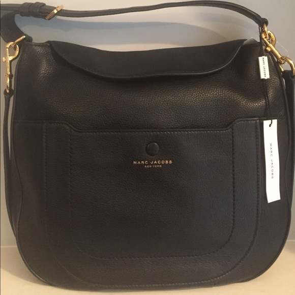 00e439519c29 Marc Jacobs Empire City Black Leather Hobo